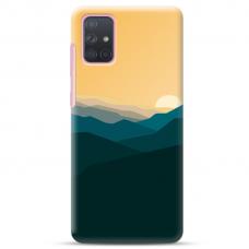 "Samsung Galaxy A72 TPU dėklas unikaliu dizainu 1.0 mm ""u-case Airskin Mountains 2 design"""