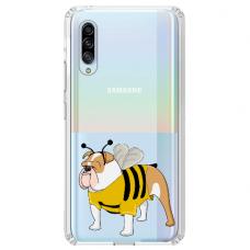 "Samsung Galaxy A70 TPU dėklas unikaliu dizainu 1.0 mm ""u-case Airskin Doggo 1 design"""