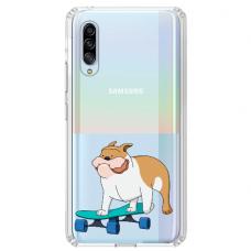 "Samsung Galaxy A70 TPU dėklas unikaliu dizainu 1.0 mm ""u-case Airskin Doggo 2 design"""