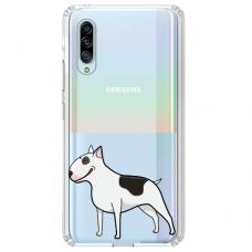 "Samsung Galaxy A70 TPU dėklas unikaliu dizainu 1.0 mm ""u-case Airskin Doggo 3 design"""