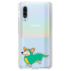 "Samsung Galaxy A7 2018 TPU dėklas unikaliu dizainu 1.0 mm ""u-case Airskin Doggo 4 design"""