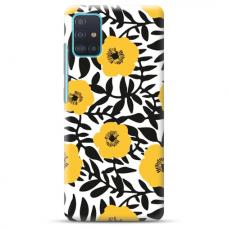 """Samsung Galaxy A71 TPU dėklas unikaliu dizainu 1.0 mm """"u-case Airskin Flowers 2 design"""""""