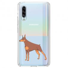 "Samsung Galaxy A7 2018 TPU dėklas unikaliu dizainu 1.0 mm ""u-case Airskin Doggo 6 design"""