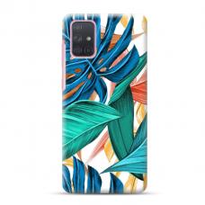 """Samsung Galaxy A71 TPU dėklas unikaliu dizainu 1.0 mm """"u-case Airskin Leaves 1 design"""""""