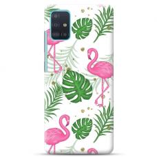 "Samsung Galaxy A71 TPU dėklas unikaliu dizainu 1.0 mm ""u-case Airskin Flamingos design"""