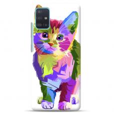 "Samsung Galaxy A41 TPU dėklas unikaliu dizainu 1.0 mm ""u-case Airskin Kitty design"""