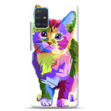 "Samsung Galaxy A71 TPU dėklas unikaliu dizainu 1.0 mm ""u-case Airskin Kitty design"""