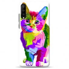 "Huawei P20 TPU dėklas unikaliu dizainu 1.0 mm ""u-case Airskin Kitty design"""