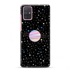 """Samsung Galaxy A71 TPU dėklas unikaliu dizainu 1.0 mm """"u-case Airskin Planet design"""""""