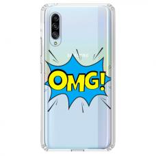 """Samsung Galaxy A70 TPU dėklas unikaliu dizainu 1.0 mm """"u-case Airskin OMG design"""""""