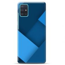 """Samsung Galaxy A71 TPU dėklas unikaliu dizainu 1.0 mm """"u-case Airskin Blue design"""""""