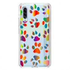"""Samsung Galaxy A70 TPU dėklas unikaliu dizainu 1.0 mm """"u-case Airskin PAW design"""""""