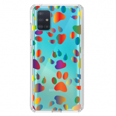"""Samsung Galaxy A51 TPU dėklas unikaliu dizainu 1.0 mm """"u-case Airskin PAW design"""""""