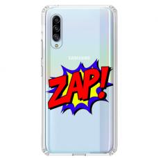 """Samsung Galaxy A70 TPU dėklas unikaliu dizainu 1.0 mm """"u-case airskin ZAP design"""""""