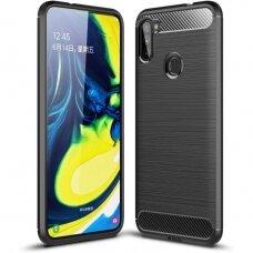"""Samsung galaxy A11 / m11 dėklas """"Carbon case"""" TPU juodas"""