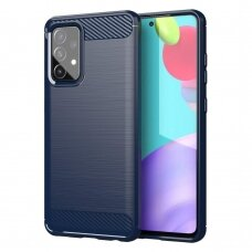 "Akcija! Samsung galaxy A72 dėklas ""Carbon case"" TPU mėlynas"