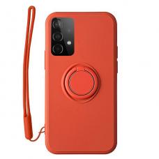 Samsung Galaxy a72 dėklas su magnetu Pastel Ring Raudonas