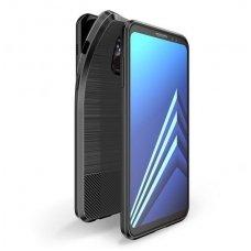 Samsung galaxy a8 2018 dėklas Dux Ducis MOJO silikonas juodas su metaline plokštele