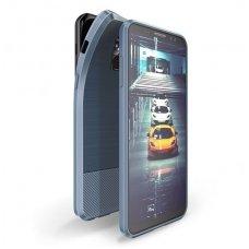 Samsung galaxy a8 2018 dėklas Dux Ducis MOJO silikonas mėlynA su metaline plokštele