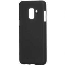 akcija!Samsung galaxy A8 2018 dėklas goospery soft jelly case silikonas juodas