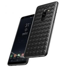 """Samsung galaxy A8 2018 dėklas """"N TOPS KNIT"""" silikonas juodas"""