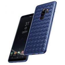 """Samsung galaxy A8 2018 dėklas """"N TOPS KNIT"""" silikonas mėlynas"""