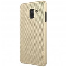 Samsung galaxy A8 2018 dėklas Nillkin Air PC plastikas aukso spalvos