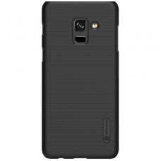 Samsung galaxy A8 2018 dėklas Nillkin Frosted Shield juodas  PC plastikas
