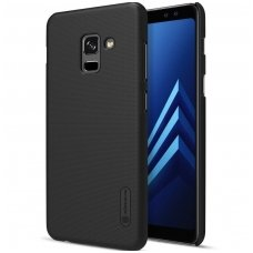 Samsung galaxy A8 2018 dėklas Nillkin Frosted Shield juodas  PC plastikas