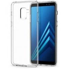 Samsung galaxy A8 2018 dėklas Silikoninis Ultra Slim 0,3mm skaidrus