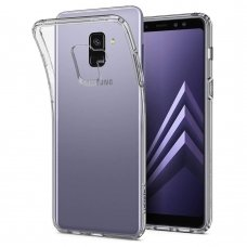 samsung galaxy a8 2018 DĖKLAS X-LEVEL ANTISLIP 0,78 MM SILIKONINIS SKAIDRUS