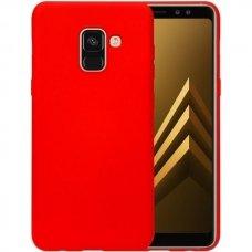 Akcija! Samsung galaxy a8 2018 dėklas silicone cover silikonas raudonas