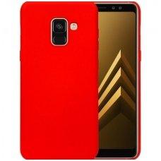 Samsung galaxy a8 2018 dėklas silicone cover silikonas raudonas