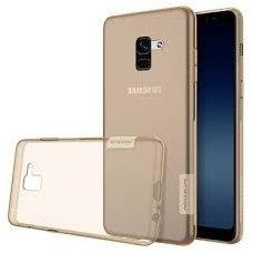 Samsung galaxy A8 plus 2018 dėklas Nillkin Nature rudas permatomas 0,6 mm TPU