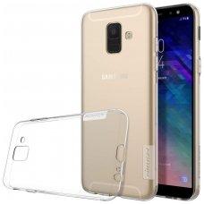 Samsung galaxy A6 2018 dėklas Nillkin Nature permatomas 0,6 mm TPU