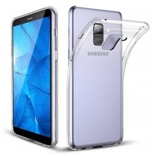 Samsung galaxy A8 plus 2018 dėklas Silikoninis Ultra Slim 0,3mm skaidrus