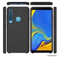 """Samsung galaxy A9 2018 dėklas """"liquid silicone cover"""" silikonas juodas"""