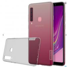 Samsung galaxy A9 2018 dėklas nillkin Nature TPU skaidrus pilkas 0,6 mm