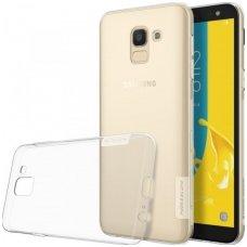 Samsung galaxy J6  2018 dėklas Nillkin Nature permatomas 0,6 mm TPU