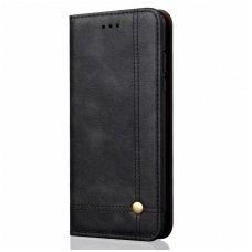 """Iphone xs max atverčiamas dėklas """"Book prestige"""" oda juodas"""
