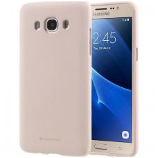 Samsung galaxy J5 2016 dėklas MERCURY JELLY SOFT silikoninis smėlinis