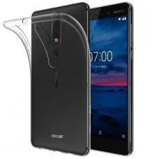Nokia 6.1 2018 DĖKLAS SILIKONINIAI ULTRA SLIM 0,3MM PERMATOMAS