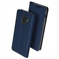 Samsung galaxy J6 Plus 2018 atveričiamas dėklas Dux ducis eko oda mėlynas