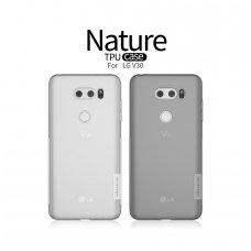 LG V30 dėklas nillkin Nature TPU skaidrus 0,6 mm  pilkas
