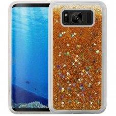 """Samsung Galaxy s8 DĖKLAS """"Water Glitter"""" TPU auksinis"""