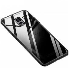 Samsung Galaxy J6 plus 2018 Glass Case stiklinis juodas
