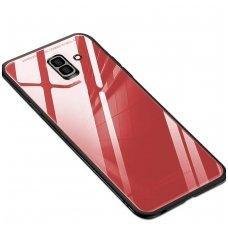 Samsung Galaxy J6 plus 2018 Glass Case stiklinis raudonas