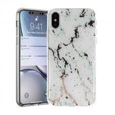 huawei y5 2019 dėklas Vennus Stone TPU plastikas baltas