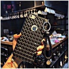 samsung galaxy j7 2017 dėklas 3d diamond silikonas juodas