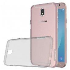 Samsung galaxy J7 2017 dėklas Nillkin Nature pilkas permatomas 0,6 mm TPU